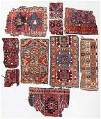 Study Group of Antique Anatolian Rugs/Fragments (10)
