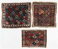 Three Antique West Persian Jaffe Kurd Bagfaces