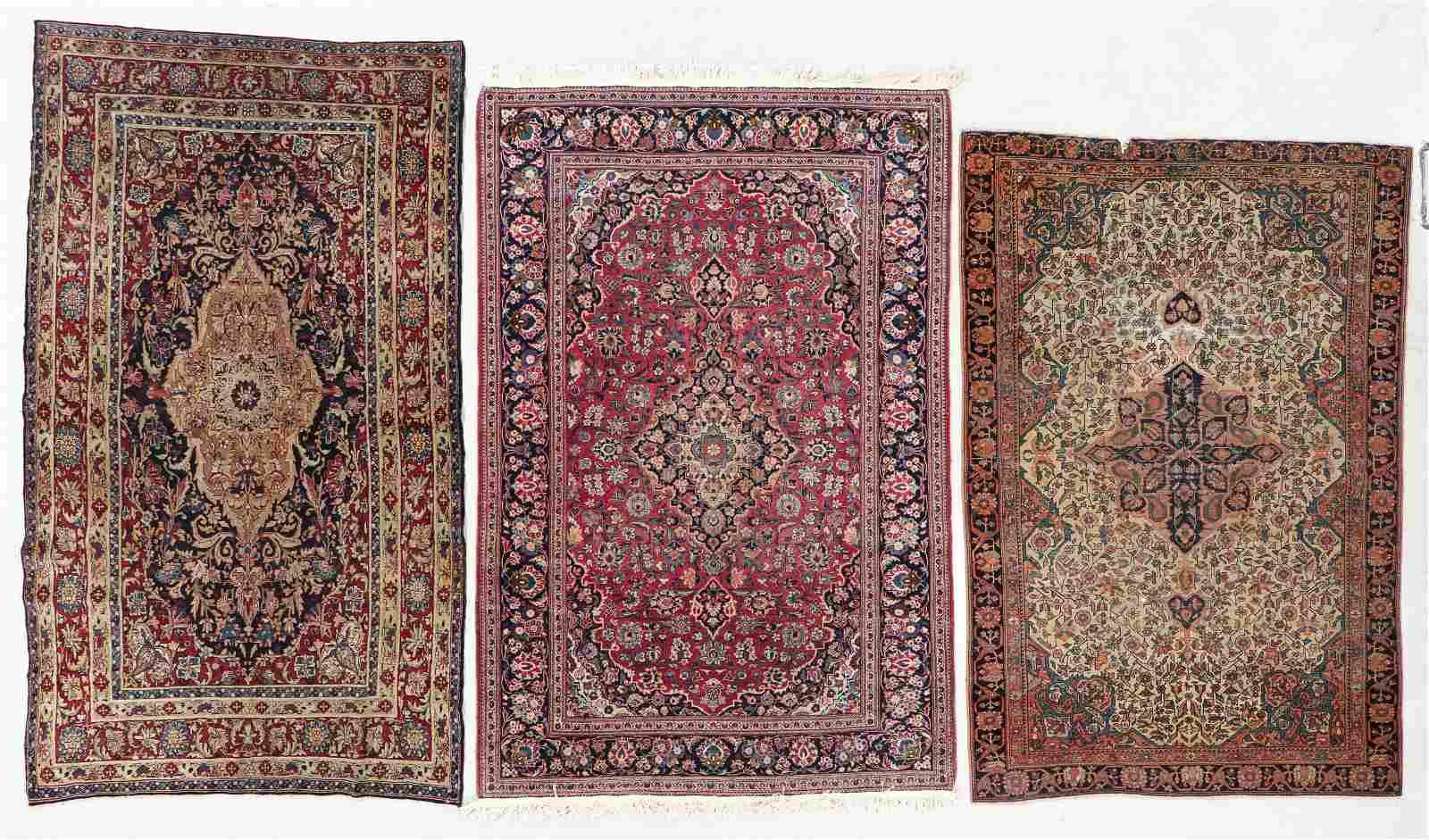 Three Antique Persian Rugs