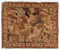 Antique Continental Wool Tapestry