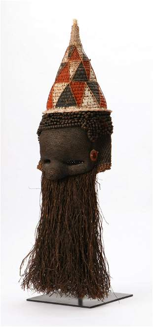 Fine African Salampasu Mask, DRC, Early 20th C.