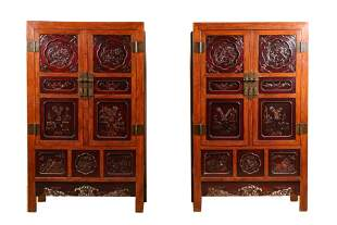 Pair of Fine Antique Chinese Wooden Cabinets