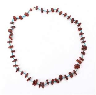 Egyptian Coptic Amber Bead Necklace
