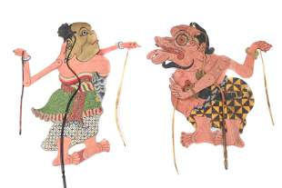 Antique Wayang Kulit Shadow Puppets, Indonesia