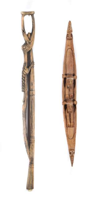 Two Indonesian Wood Carvings