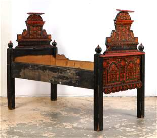 Hungarian Painted Single Bed