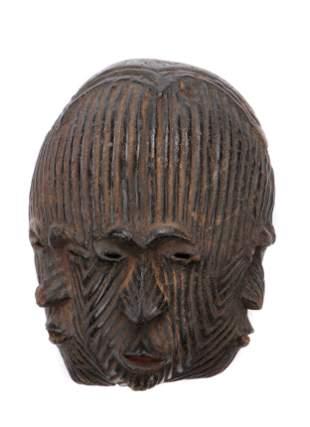 Central African Lengola Multi-face Spirit Mask, Congo