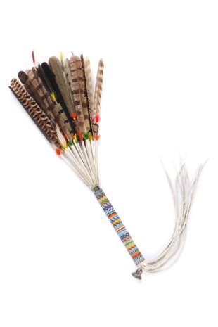 Native American Sioux Beaded Dance Fan