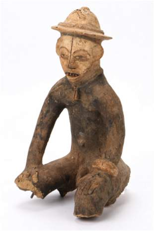 African Igbo Terracotta Figure, Nigeria