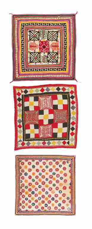 Three Antique Indian Textiles