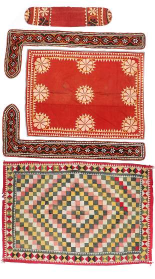 Group of 4 Indian Textiles