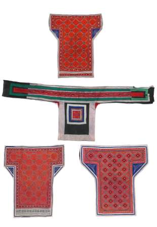 4 Miao Baby Carriers, South China, Early 20th C.