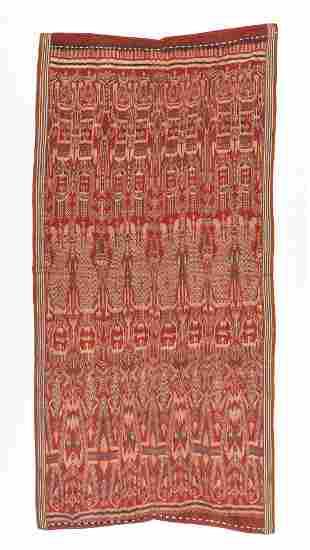 Antique Iban Pua Kombu Ceremonial Textile, Borneo