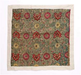 Lovely 18th C. Continental Silk Embroidered Textile