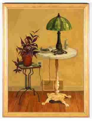 "Eva Marinelli Martino (American, b. 1929) ""Two Tables"""