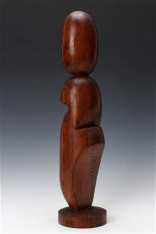 Eva Martino (American, b.1929) Wood Sculpture