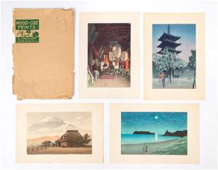 Group of 4 Japanese Woodblock Prints