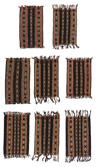 Eight Similar Modern Sabu Ikat Weavers Textiles,