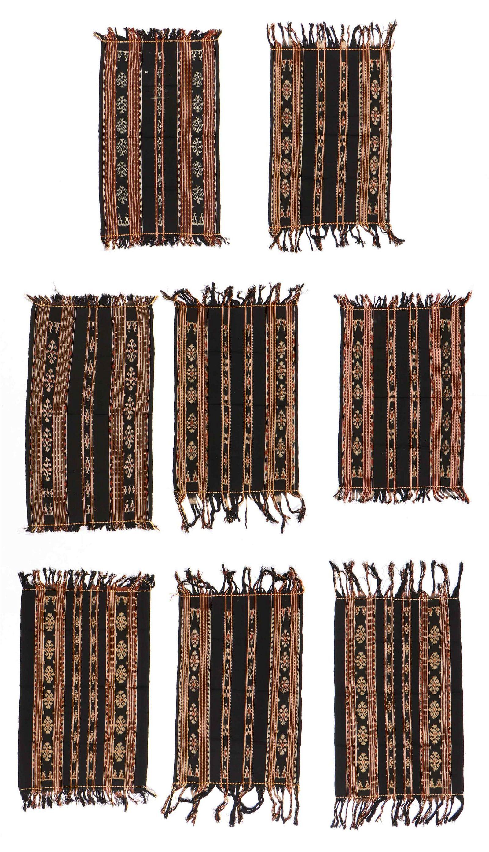 Eight Similar Modern Sabu Ikat Weavers Textiles,