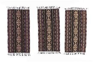 Three Identical Modern Ardiyanto Ikat Textiles,