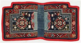 Saddle Rug, Tibet, Late 19th C., 4'3'' x 2'1''