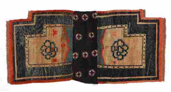 Saddle Rug, Tibet, Early 20th C., 2'2'' x 4'6''