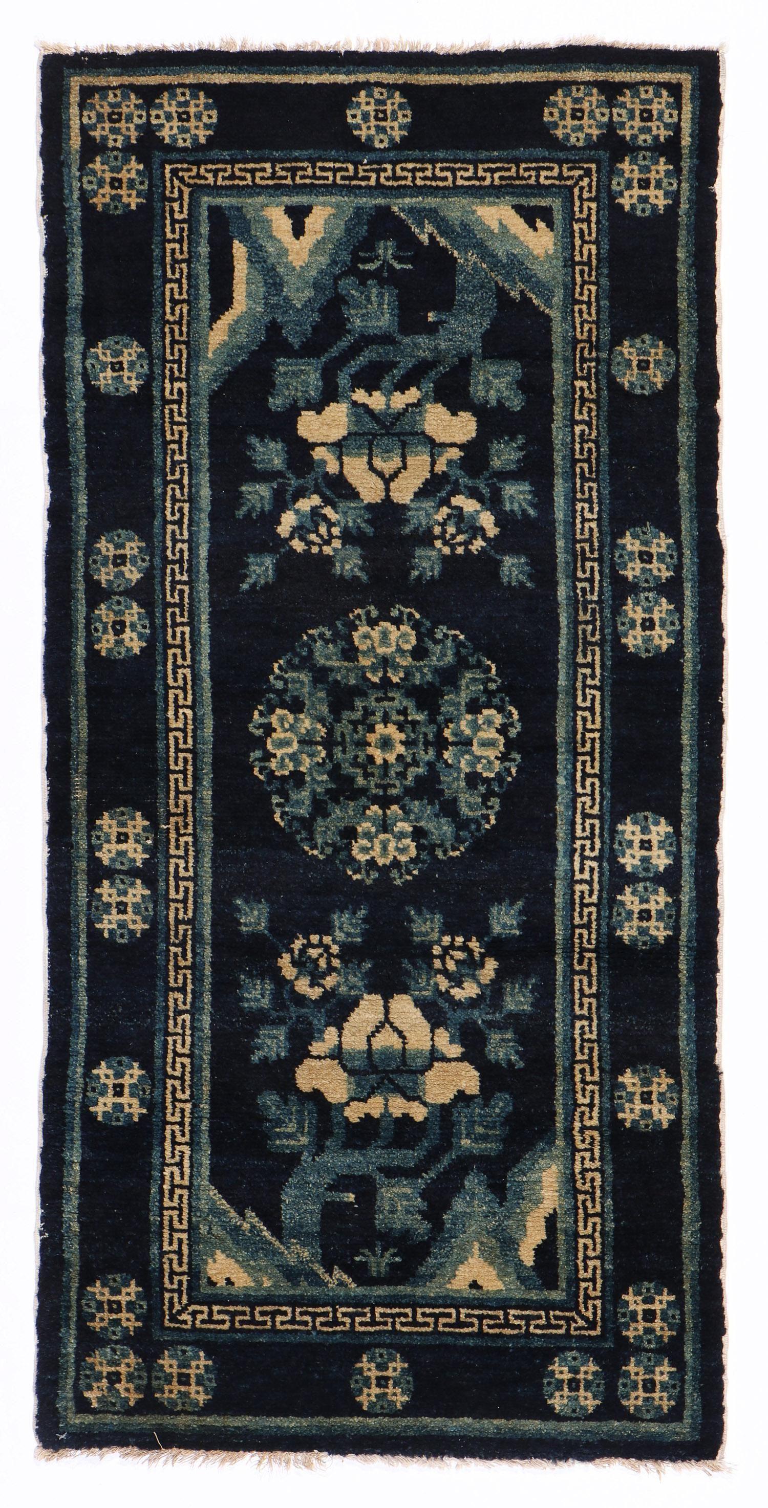 Batou Rug, Inner Mongolia, Circa 1900, 2'1'' x 4'4''