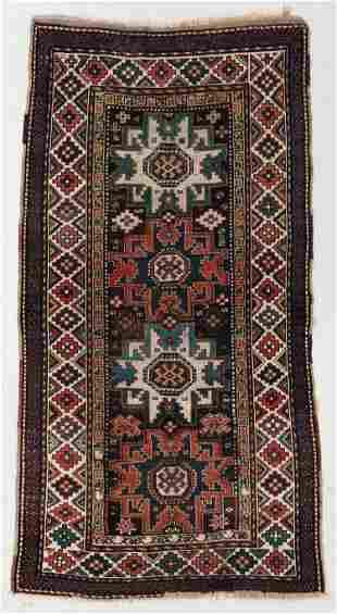 Lesghi Kazak Rug, Caucasus, Late 19th C., 3'9'' x 7'7''