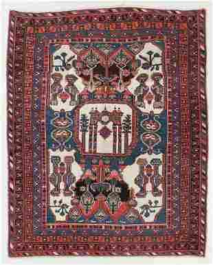Shahr Babak Prayer Rug, Persia, Ca. 1900, 4'9'' x 6'1''
