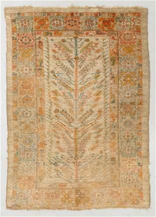 Angora Oushak Rug, Turkey, Circa 1900, 4'10'' x 6'9''