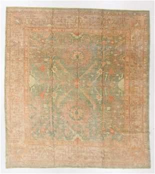 Vintage Oushak Rug, Turkey, 9'10'' x 10'8''
