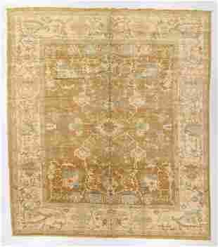 Vintage Oushak Rug, Turkey, 11'3'' x 12'11''