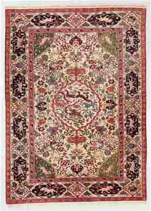 Vintage Pictorial Rug, Turkey, 5'1'' x 7'0''