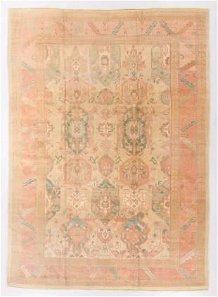 Vintage Oushak Rug, Turkey, 9'5'' x 13'1''