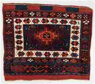 Fine Large Jaffe Kurd Bagface, Persia, Late 19th C.,