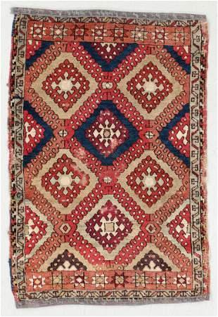 Kurd Yuruk Sarkisla Yastik Rug, Turkey, 19th C., 2'4''