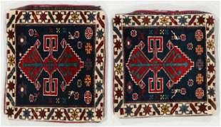 Pair of Antique Caucasian Bagface Cushions
