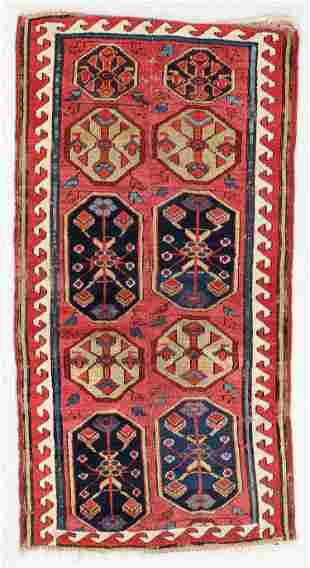Sauj Bulak Kurd Rug Fragment, Persia, 19th C.