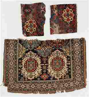 Three Antique Caucasian Rug Fragments