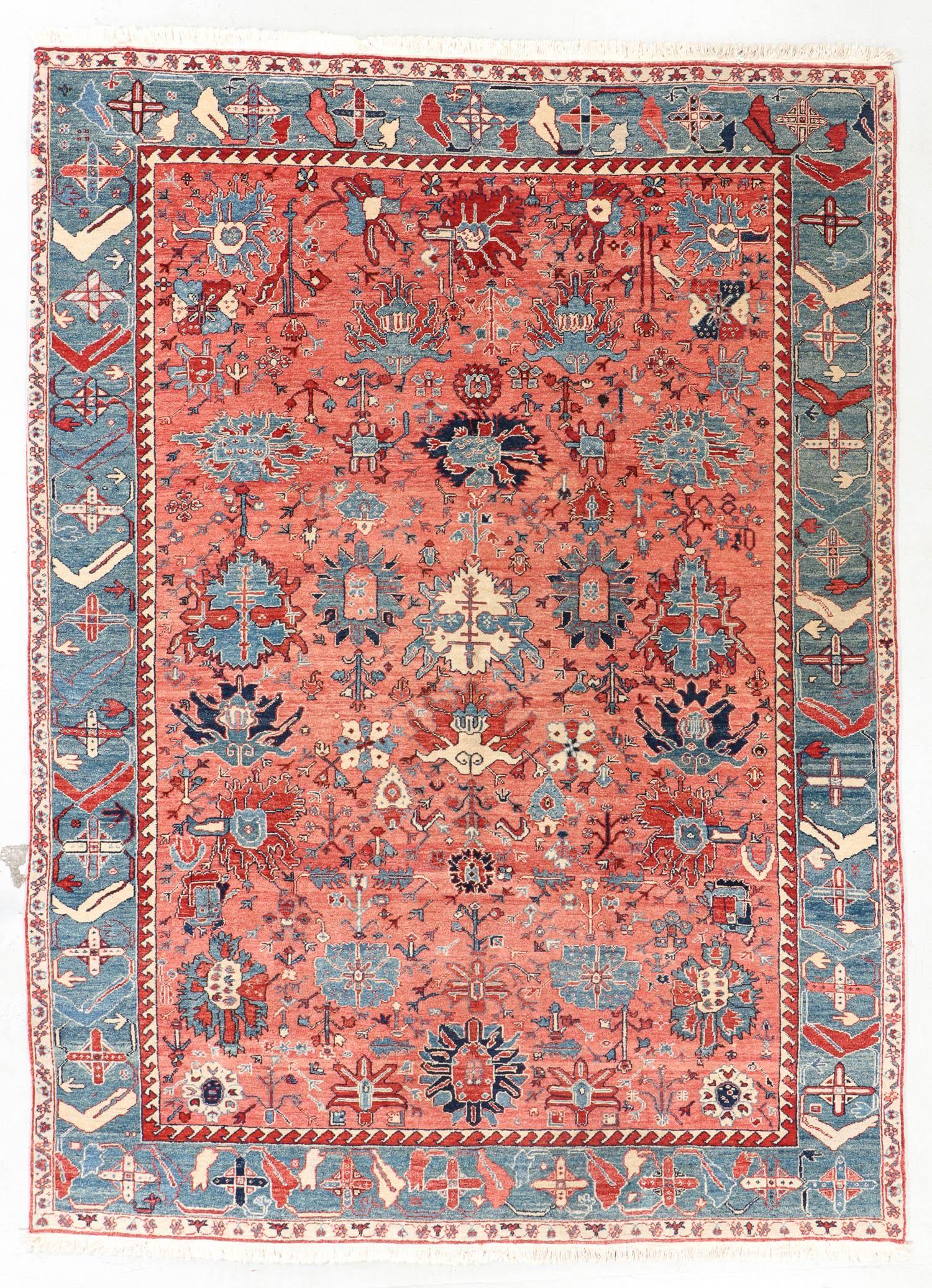Vintage Azeri Rug, Turkey, 8'0'' x 10'11''