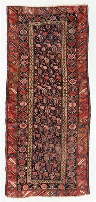 West Persian Kurd Rug, Circa 1880, 3'10'' x 9'2''