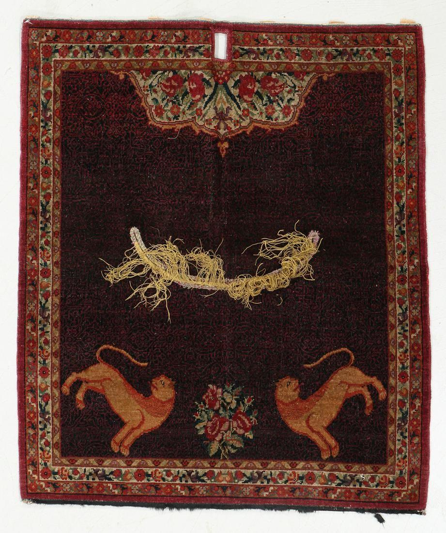 West Persian Saddle Rug, Circa 1900, 2'11'' x 3'5''