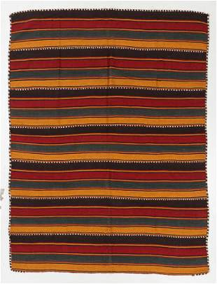 Striped West Persian Kilim, Early/Mid 20th C., 6'4'' x
