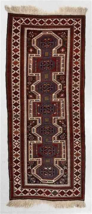 Kazak Rug, Caucasus, Early 20th C., 4'0'' x 9'10''