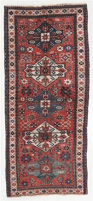 Kazak Rug, Caucasus, Late 19th C., 3'6'' x 8'3''