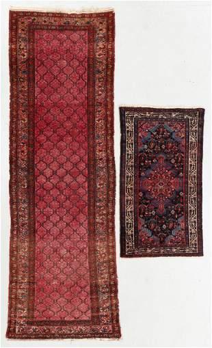 Two Antique Hamadan Rugs, Persia