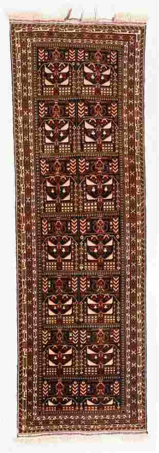 Vintage Afghan Rug, 3'0'' x 9'4''