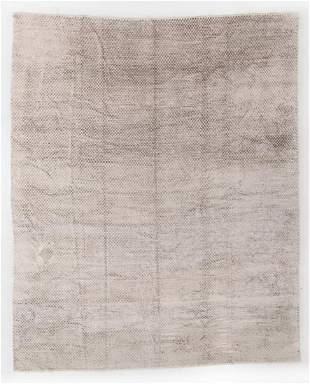 "Fine Modern Silk Velvet Rug, Thailand, 9'7"" x 11'8"""