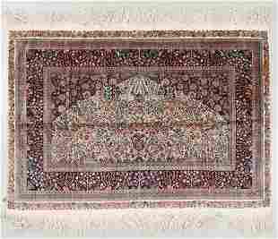 Very Fine Persian Style Silk Rug, China, 6'1'' x 4'4''