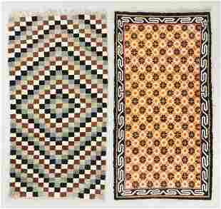 Two Vintage Tibetan Rugs